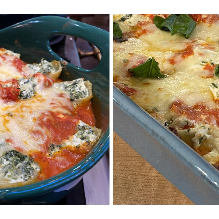 Stuffed Shells 2-Ways with Vodka Sauce