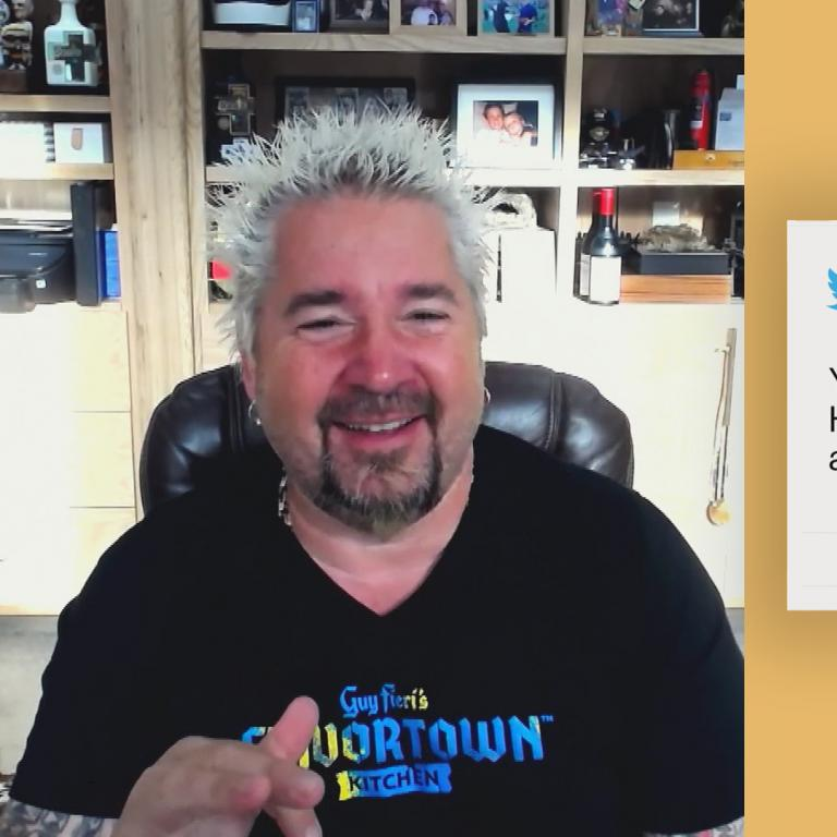 Guy Fieri and Twitter Question