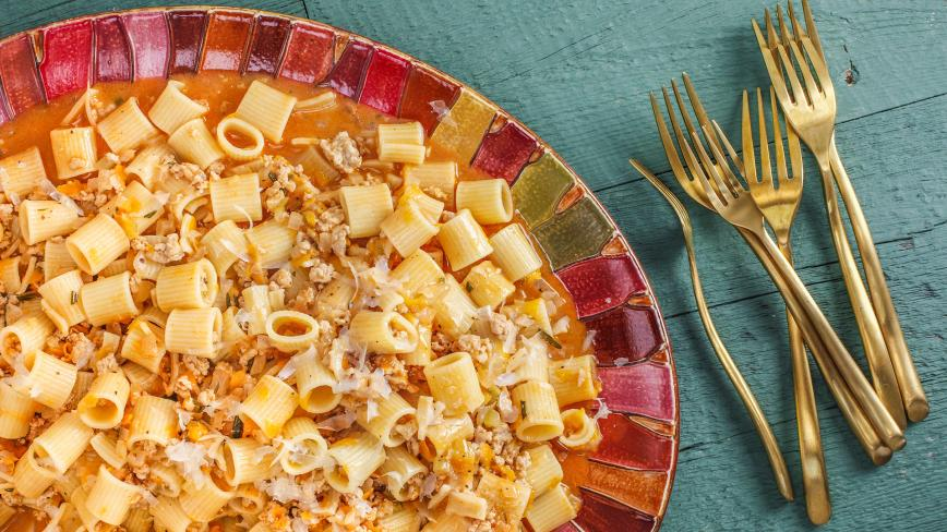Chicken and Vegetable Ragu with Rigatoni