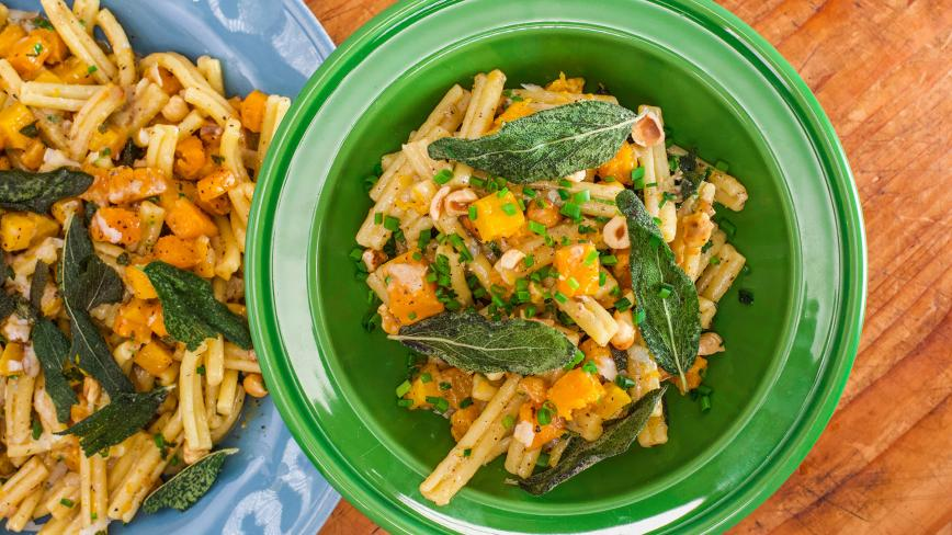 Pumpkin, Sage and Gorgonzola Pasta