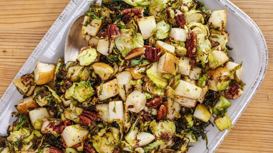 Warm Brussels Sprouts & Pear Salad