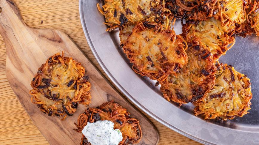 potato-leek latke