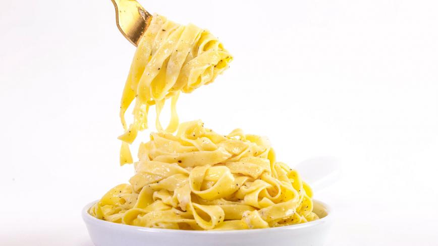 Fettucine with Buffalo Butter, Parmigiano and Black Pepper
