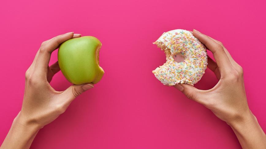 Apple and Doughnut