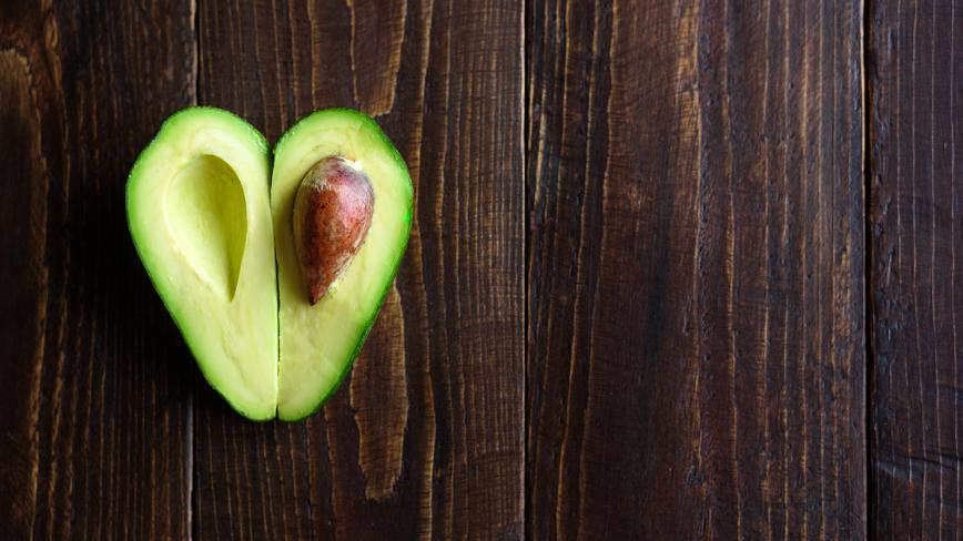 Avocado Shaped Like Heart