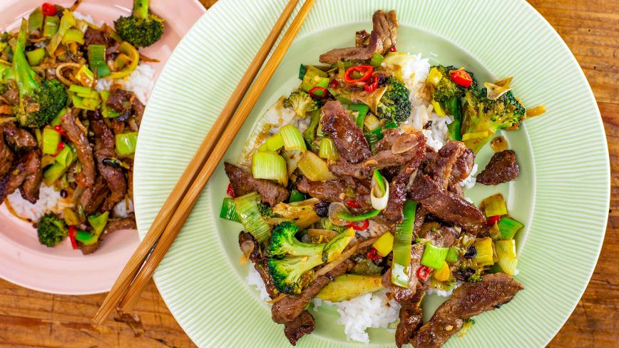 Rachael's Chinese Beef and Broccoli with Black Bean Sauce