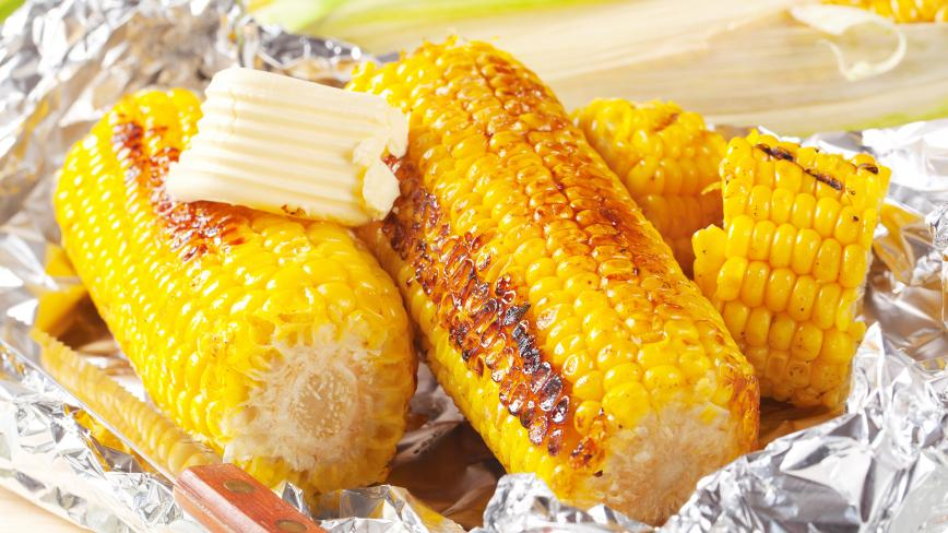 Grilled Corn in Foil with Butter