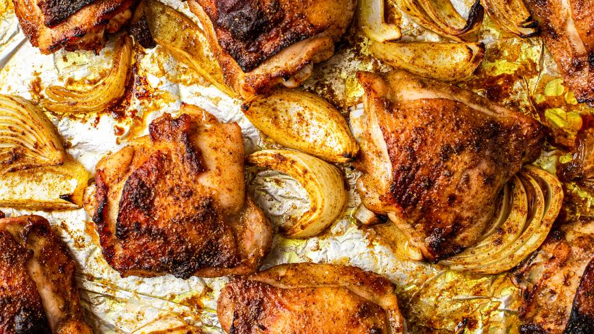 Moroccan Baked Chicken Thighs
