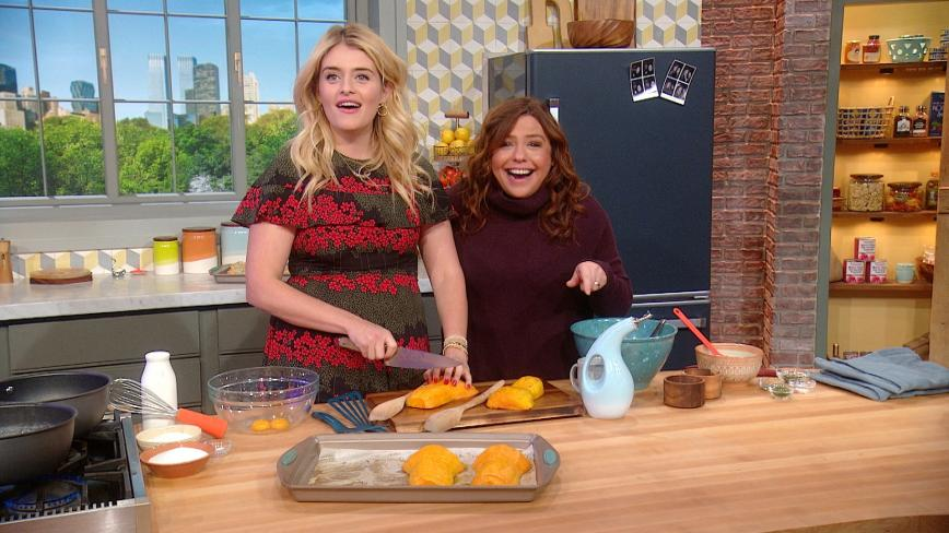Daphne Oz and Rachael Ray make hasselback butternut squash