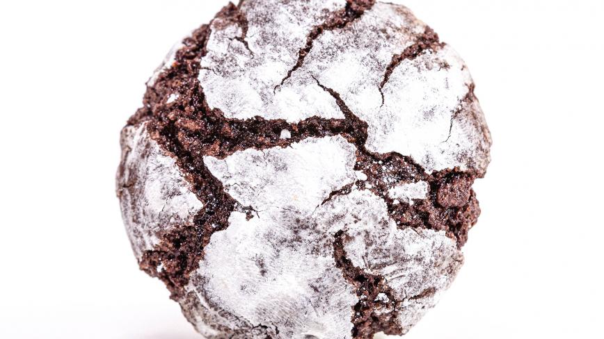 hot chocolate crinkle cookies