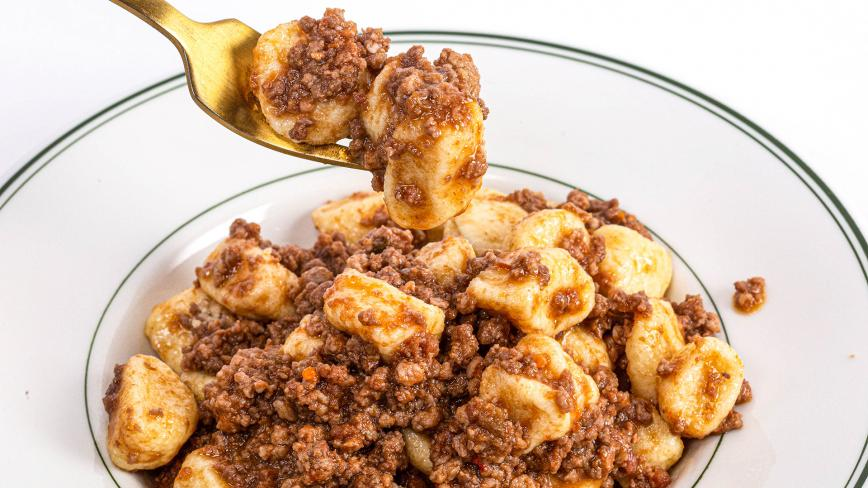 Gnocchi with Meat Ragu