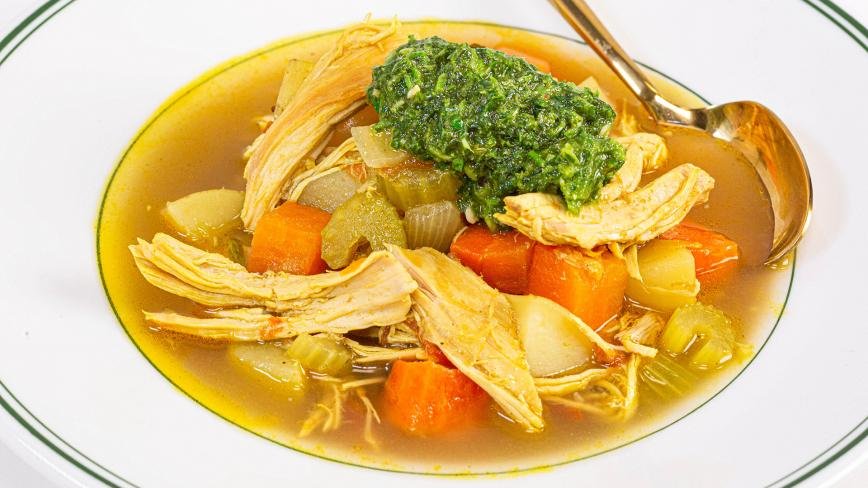 Spiced Winter Chicken Soup