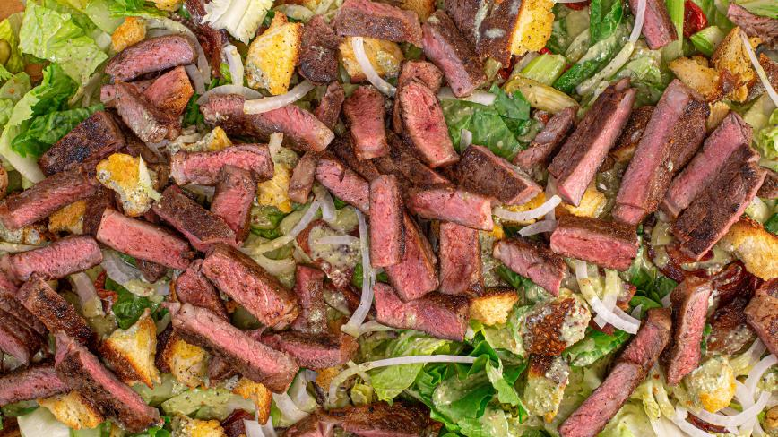Steak Salad with Blue-Basil Vinaigrette