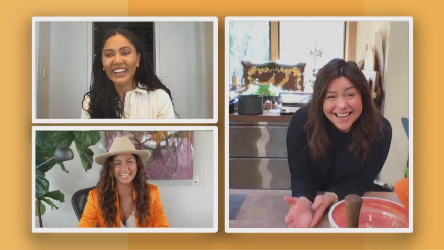 Rachael Ray chats with Ayesha Curry and Camila Alves McConaughey