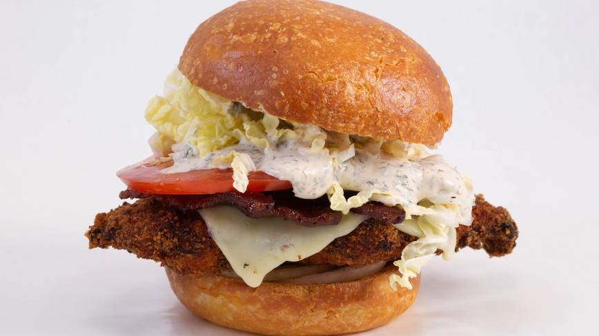 Ranch Fried Chicken Sandwiches with BLT and OP