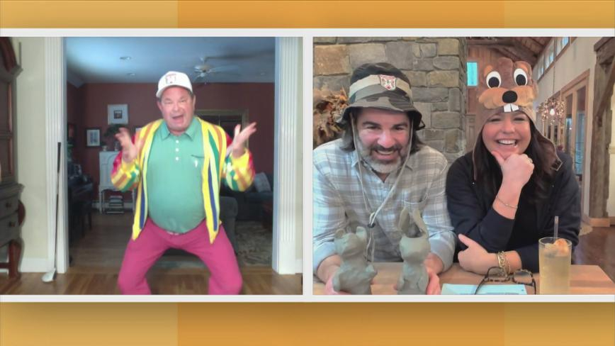 Rachael, John and Joey Kola in costume