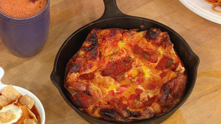pepperoni pizza frittata