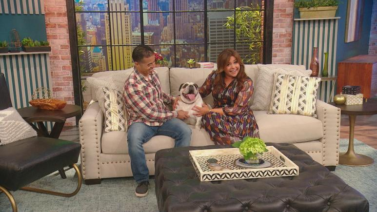 Rachael Ray with Bulldog