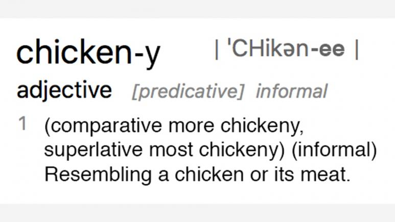 chickeny definition