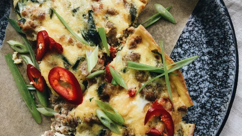 Broccoli and Sausage Frittata
