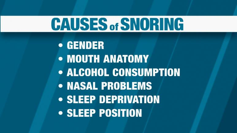 Causes of snoring graphic