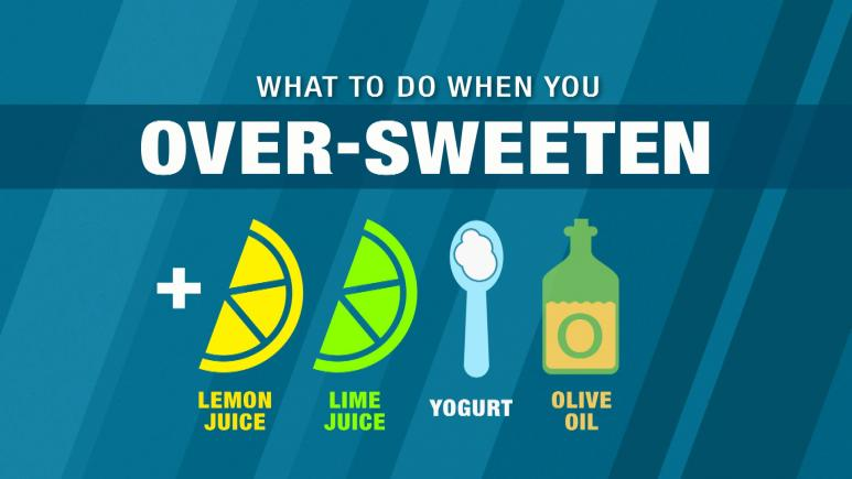 What To Do When You Over-Sweeten
