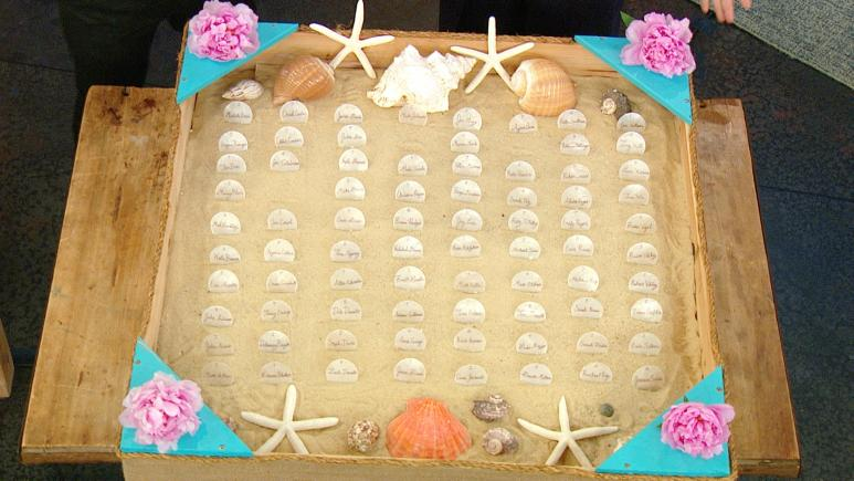 Sandbox Escort Card Display