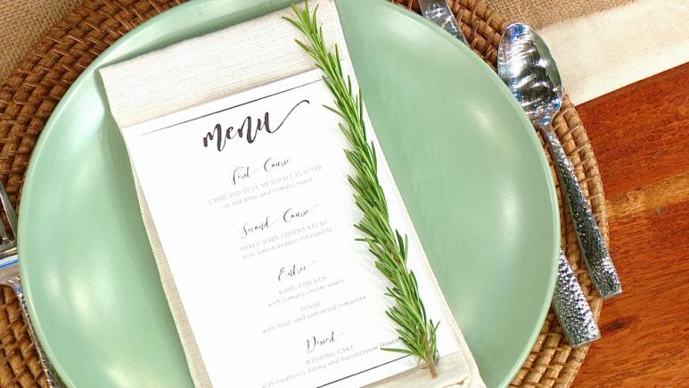 Rosemary Sprig On Menu