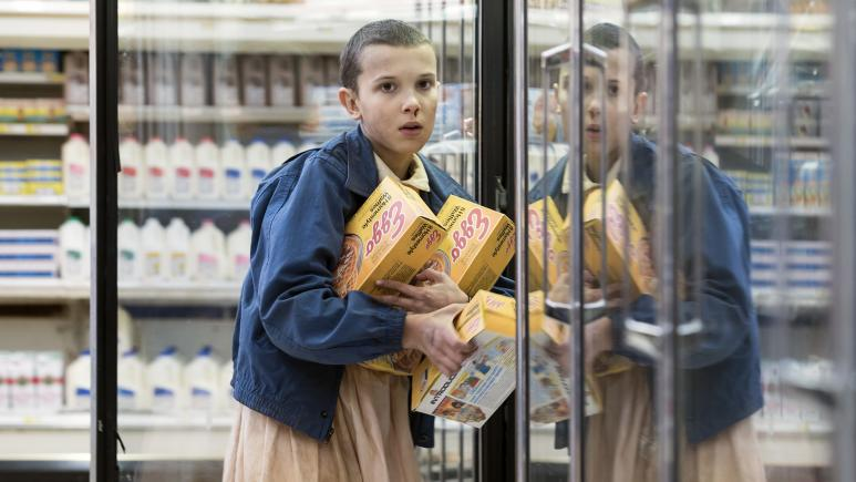 Eleven with Eggos Stranger Things Season 1
