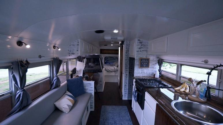 tiny house bus interior