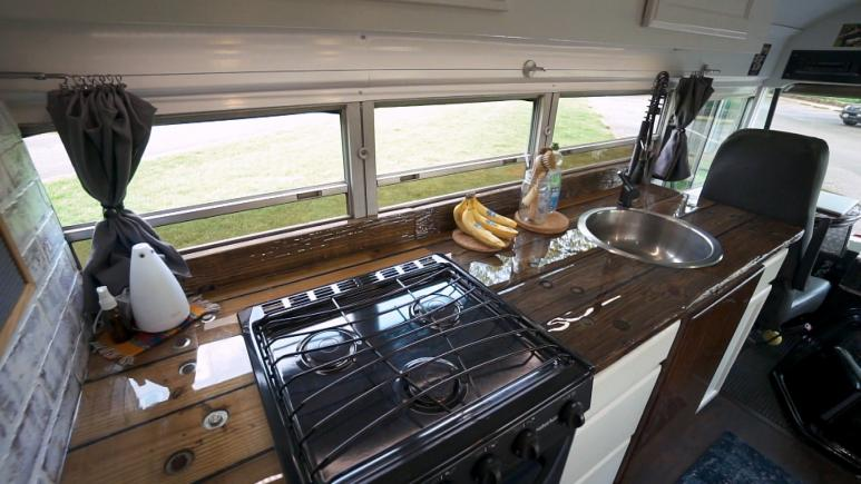 tiny home interior countertops
