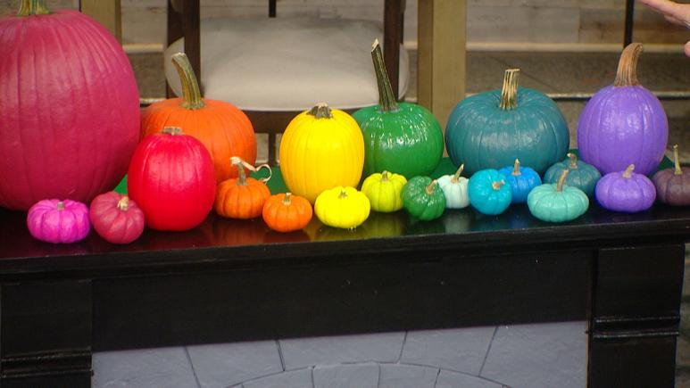 rainbow pumpkins