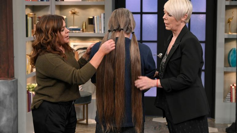Rachael Ray, Tabatha Coffey and makeover guest