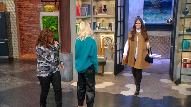 cape coat rachael ray show