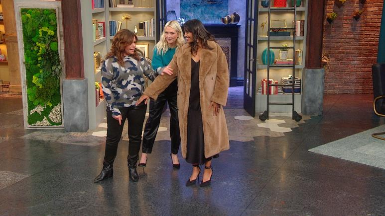 faux fur coat rachael ray show