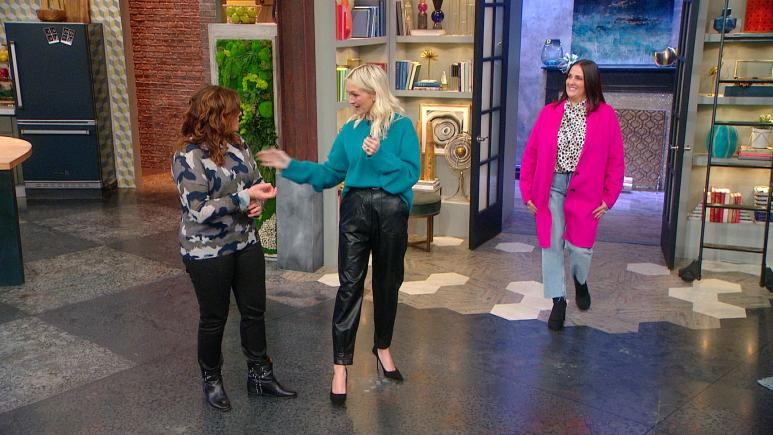 hot pink coat rachael ray show