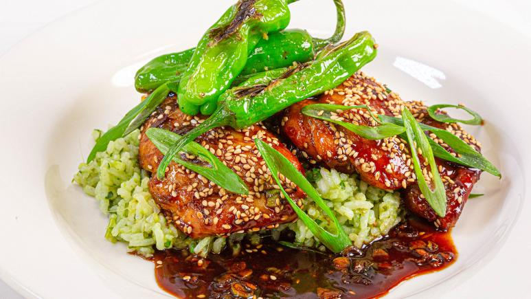 Sticky Asian Chicken With Rice