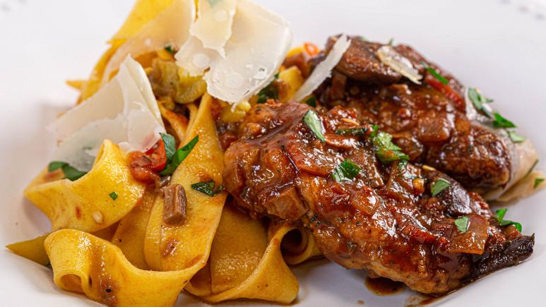 Chicken Cacciatore and Pappardelle