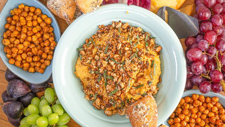 Roasted Butternut Squash & Garlic Hummus