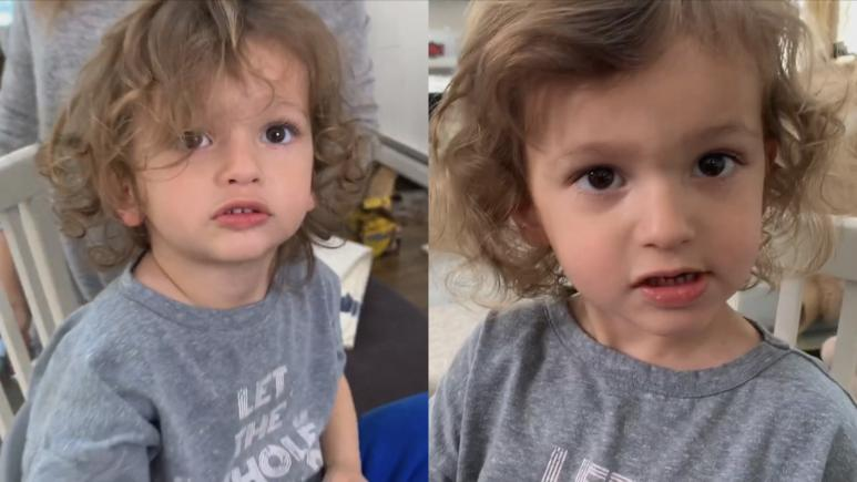 toddler haircut before and after