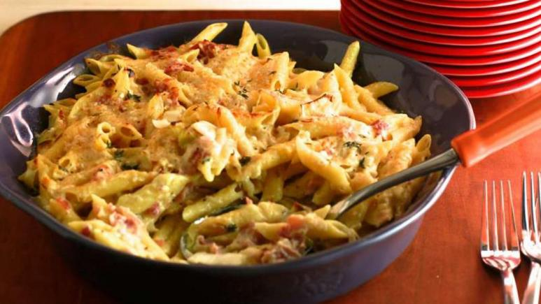 Mac and Cheese with Leeks and Ham