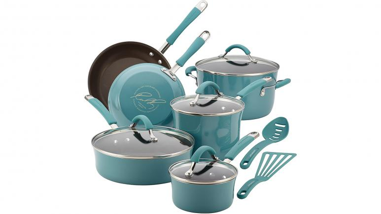 Rachael Ray Cucina 12-pc Cookware Set, Agave Blue