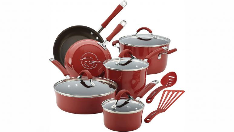 rachael ray cranberry red cookware