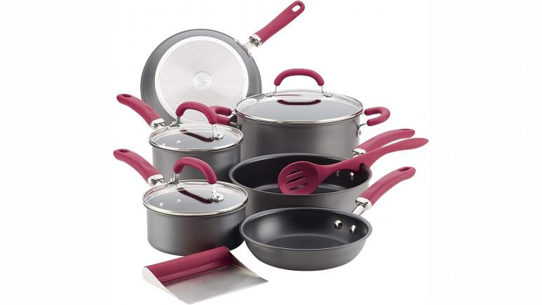 rachael ray create delicious burgundy cookware set