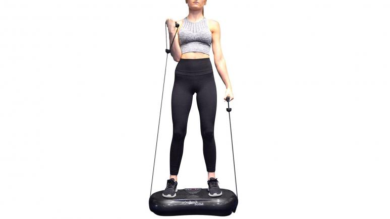 Rock Solid Portable Whole Body Vibration Machine and Resistance Band Set