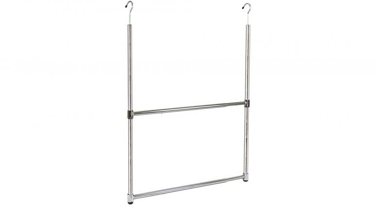 Oceanstar 2-Tier Portable Adjustable Rod Closet Hanger