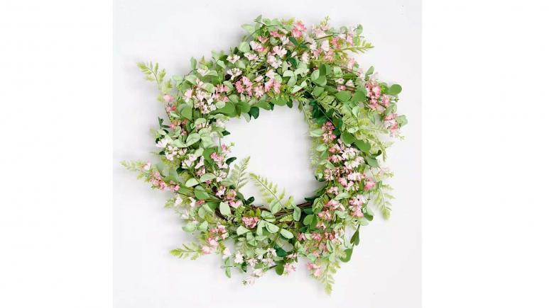 Artificial Floral Wildflower Wreath