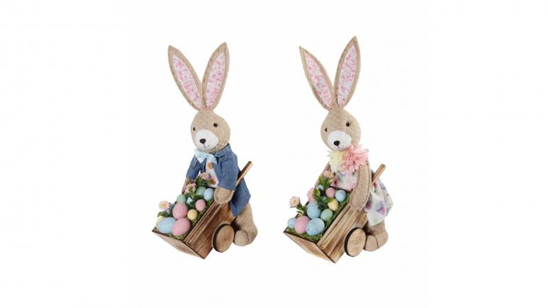 Bunny with Cart & Eggs Accent by Ashland® Easter