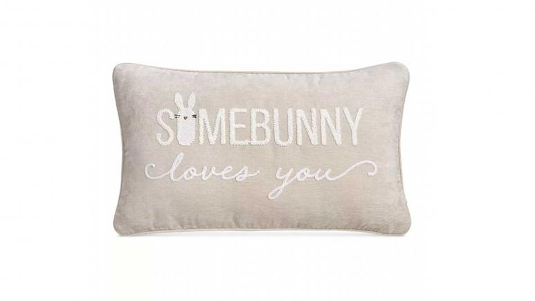 Some Bunny Loves You Decorative Pillow