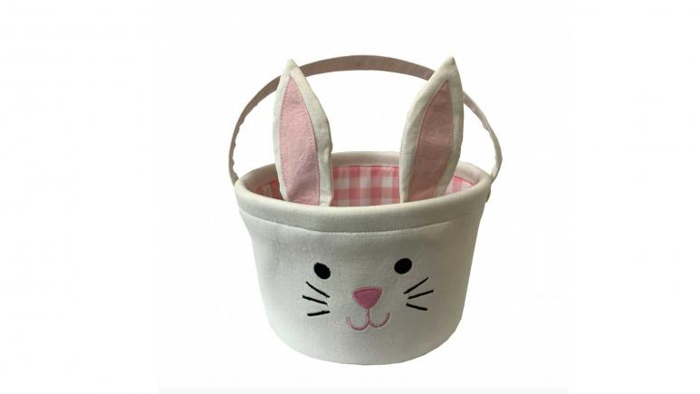 White Bunny Canvas Easter Basket by Ashland®